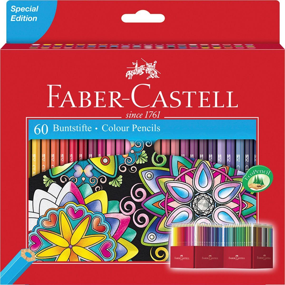 Faber-Castell Набор цветных карандашей Замок 60 цветов 111260 карандаши bruno visconti набор карандашей цветных disney белоснежка 6 цветов