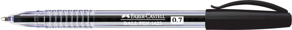 Faber-Castell Ручка шариковая 1423 черная142339Шариковая ручка Faber-Castell 1423 эргономичной формы станет незаменимым атрибутом учебы илиработы. Прозрачный корпус ручки выполнен из пластика. Вентилируемый колпачок соответствует цвету чернил. Высококачественные чернила позволяют добиться идеальной плавности письма.Особенности:толщина линии 0,7 ммудобное и мягкое использованиевысококачественные чернила, не выцветаютэргономичная формадлина письма: ~3000 м