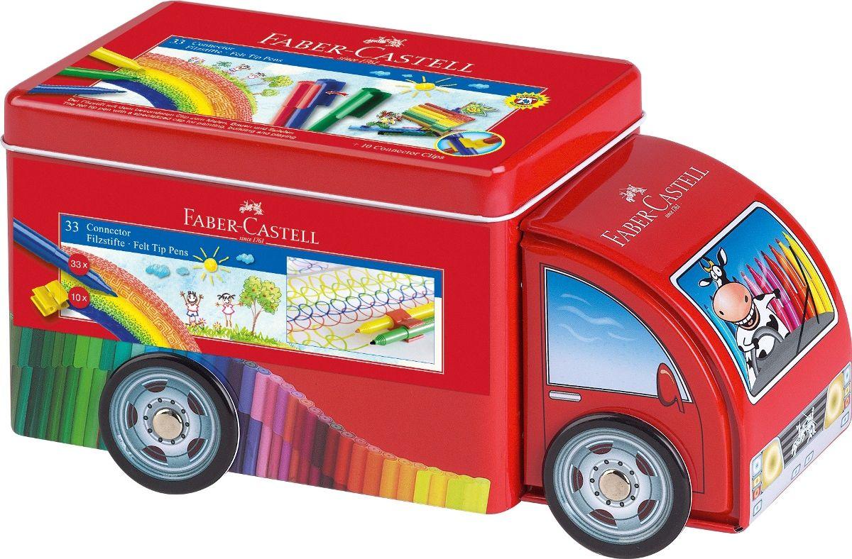 Faber-Castell Набор фломастеров Connector Машина 33 цвета -  Фломастеры