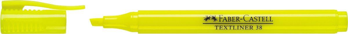 Faber-Castell Текстовыделитель 38 цвет желтый157707Текстовыделитель Faber-Castell станет незаменимым предметом, как на столешкольника, так и студента. Текстовыделитель идеален для всех видов бумаги.Чернила на водной основе.Линия маркировки шириной 5,2 или 1 мм.