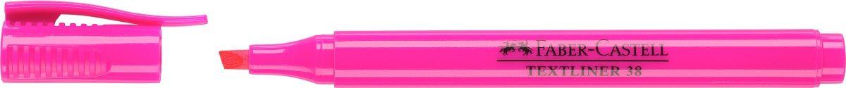 Faber-Castell Текстовыделитель 38 цвет розовый157728Текстовыделитель Faber-Castell станет незаменимым предметом, как на столе школьника, так и студента.Изделие имеет привлекательный полупрозрачный дизайн. Он идеален для всех видов бумаги. Чернила на водной основе.Линия маркировки шириной 5, 2 или 1 мм.