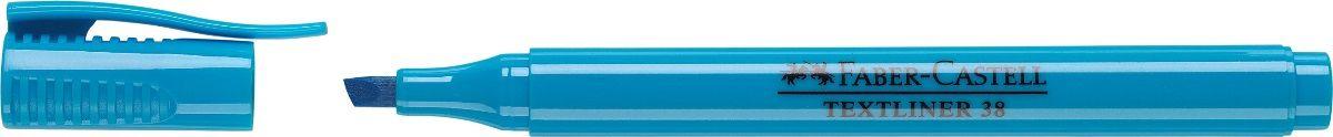 Faber-Castell Текстовыделитель 38 цвет синий157751Текстовыделитель Faber-Castell станет незаменимым предметом, как на столе школьника, так и студента.Изделие имеет привлекательный полупрозрачный дизайн. Маркер со скошенным наконечником идеален для всех видов бумаги. Чернила на водной основе.Линия маркировки шириной 5, 2 или 1 мм.