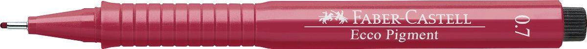 Faber-Castell Ручка капиллярная Ecco Pigment 0.7 цвет красный 166721166721Капиллярная ручка Ecco Pigment идеальна для письма, рисования, набросков. Ручка имеет пигментные черные чернила, водоустойчивые и светоустойчивые. Ручка позволяет рисование с линейкой и по шаблону. Длинный кончик с металлическим корпусом. Эргономичная область захвата, металлический клип.