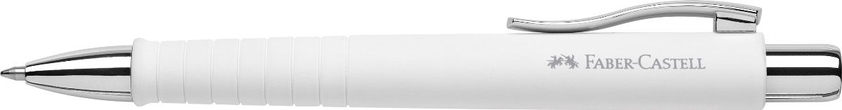 Faber-Castell Ручка шариковая Poly Ball XB цвет корпуса белый241101Шариковая ручка Faber-Castell Poly Ball XB имеет запатентованную антискользящую зону захвата с малыми массажными шашечками. Эргономичная трехгранная форма, качественный нажимной механизм и упругий клип обеспечат комфорт при использовании ручки. Пригодна для письма на документах.Особенности: наконечник и выдвижной колпачок наконечника из металла система, предотвращающая поломку грифеля оптимальная толщина грифеля 0,7 мм качественный, длинный, выдвижной ластик, защищенный колпачком система автоматической подачи грифеля