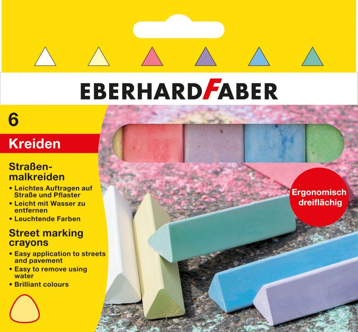 Eberhard Faber Мелки цветные трехгранные 6 цветов526503
