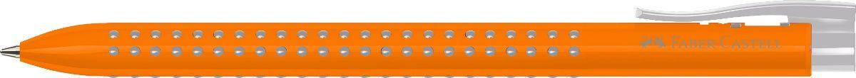 Faber-Castell Ручка шариковая Grip 2022 цвет корпуса оранжевый544615Шариковая ручка Faber-Castell Grip 2022 имеет запатентованную антискользящую зону захвата с малыми массажными шашечками. Эргономичная трехгранная форма, качественный нажимной механизм и упругий клип обеспечат комфорт при использовании ручки. Пригодна для письма на документах.Особенности: наконечник и выдвижнойколпачок наконечника из металла система, предотвращающая поломку грифеля оптимальная толщина грифеля 0,7 мм качественный, длинный, выдвижной ластик, защищенный колпачком система автоматической подачи грифеля