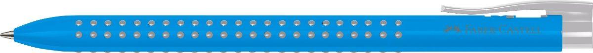 Faber-Castell Ручка шариковая Grip 2022 цвет корпуса голубой544647Шариковая ручка Faber-Castell Grip 2022 имеет запатентованную антискользящую зону захвата с малыми массажными шашечками.Эргономичная трехгранная форма, качественный нажимной механизм и упругий клип обеспечат комфорт при использовании ручки. Пригоднадля письма на документах.