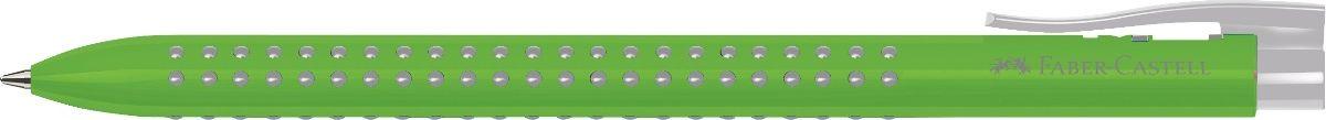 Faber-Castell Ручка шариковая Grip 2022 цвет корпуса салатовый544666Шариковая ручка Faber-Castell Grip 2022 имеет запатентованную антискользящую зону захвата с малыми массажными шашечками.Эргономичная трехгранная форма, качественный нажимной механизм и упругий клип обеспечат комфорт при использовании ручки. Пригоднадля письма на документах.