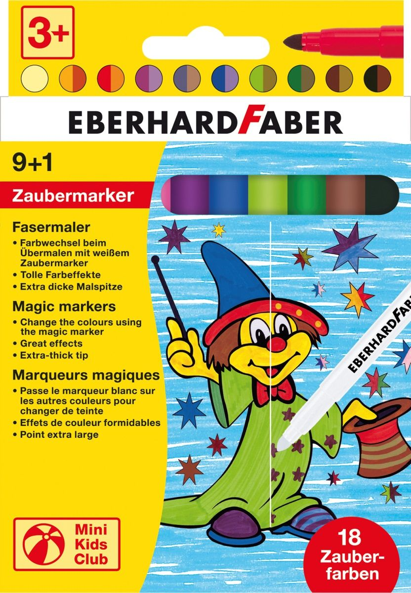 Eberhard Faber Набор фломастеров 10 цветов551010Набор фломастеров Eberhard Faber поможет вашему ребенку создать неповторимые яркие картинки, а упаковка с милым рисунком будет долгое время радовать малыша.Фломастеры изготовлены из материала, обеспечивающего прочность корпуса и препятствующего испарению чернил, благодаря этому фломастеры имеют гарантированно долгий срок службы.