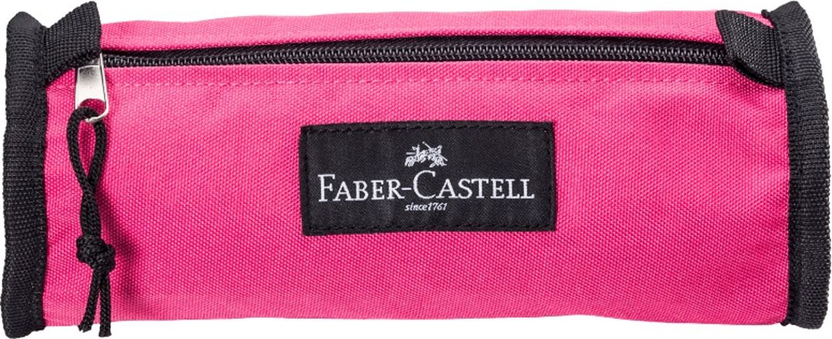Faber-Castell Пенал цвет розовый 573528573528Пенал Faber-Castell станет не только практичным, но и стильным аксессуаром для любого школьника или студента. Пенал в форме цилиндра выполнен из прочного материала и состоит из одного вместительного отделения, закрывающегося на застежку-молнию. Язычок на застежке-молнии дополнен текстильной петлей.Такой пенал станет незаменимым помощником не только для учащихся, но и для художников, с ним письменные и художественные принадлежности всегда будут под рукой и больше не потеряются.
