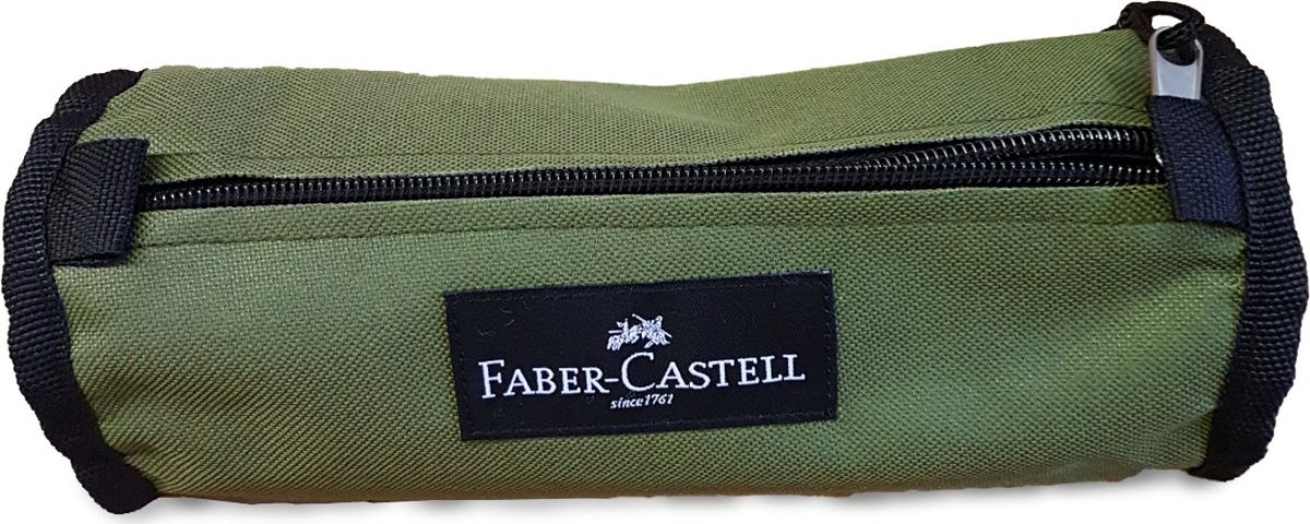 Faber-Castell Пенал цвет оливковый 573573573573Пенал Faber-Castell станет не только практичным, но и стильным аксессуаром для любого школьника или студента. Пенал в форме цилиндра выполнен из прочного материала и состоит из одного вместительного отделения, закрывающегося на застежку-молнию. Язычок на застежке-молнии дополнен текстильной петлей.Такой пенал станет незаменимым помощником не только для учащихся, но и для художников, с ним письменные и художественные принадлежности всегда будут под рукой и больше не потеряются.