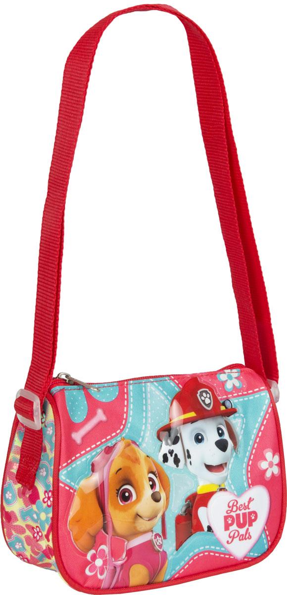 Paw Patrol Сумка детская Best Pup Pals31845Детская сумочка Paw Patrol обязательно понравится вашей маленькой моднице. С таким милым аксессуаром можно ходить в гости или на прогулку, а также устраивать множество увлекательных игр, всегда оставаясь в центре восхищенного внимания. Сумочка имеет одно отделение на молнии, в которое можно положить любимые игрушки или необходимые на прогулке вещи. Длину регулируемой лямки можно установить от 28 до 48 см, поэтому аксессуар подходит девочкам разного роста. Изделие декорировано объемной, блестящей аппликацией и ярким принтом (сублимированной печатью), устойчивым к истиранию и выгоранию на солнце.