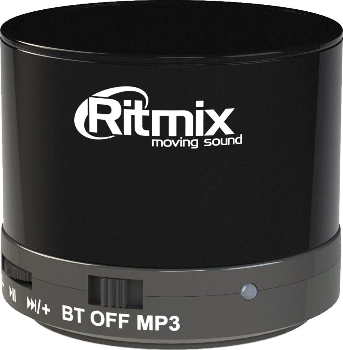 Ritmix SP-130B, Black портативная акустическая система15118765Несмотря на свой компактный размер, портативная Bluetooth колонка Ritmix SP-130B обладает чистым звучанием. Она совместима с большинством аудио и мультимедийных устройств (мобильные телефоны, mp3-плееры, персональные компьютеры, ноутбуки, планшеты и т.п.). Имеет функцию FM-радио и воспроизведения с карт памяти microSD. Отличный выбор для тех, кому нужна музыка всегда и везде.Емкость аккумулятора: 300 мАчКак выбрать портативную колонку. Статья OZON Гид
