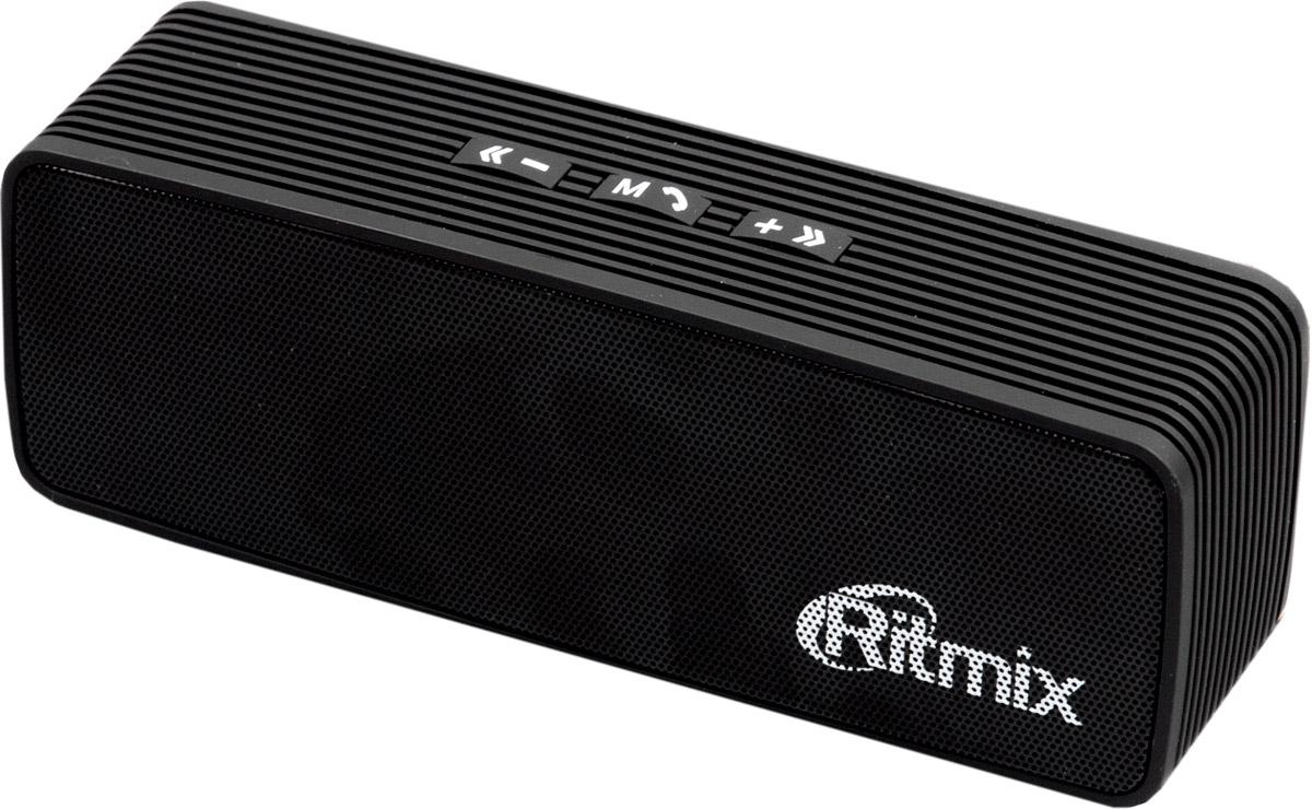 Ritmix SP-274B, Black портативная акустическая система15118772Ritmix SP-274B - это компактная акустическая мини-система с чистым звучанием, которая совместима с большинством аудио- и мультимедийных устройств (мобильные телефоны, МР3-плееры, персональные компьютеры, ноутбуки, планшеты). Данная модель подходит для широкого спектра задач: от прослушивания FM-радио на даче до просмотра фильмов с динамичными басами. Имеет встроенный литий-ионный аккумулятор ёмкостью 1200 мАч. Благодаря своим компактным размерам устройство можно использовать в стационарных и мобильных условиях работы.