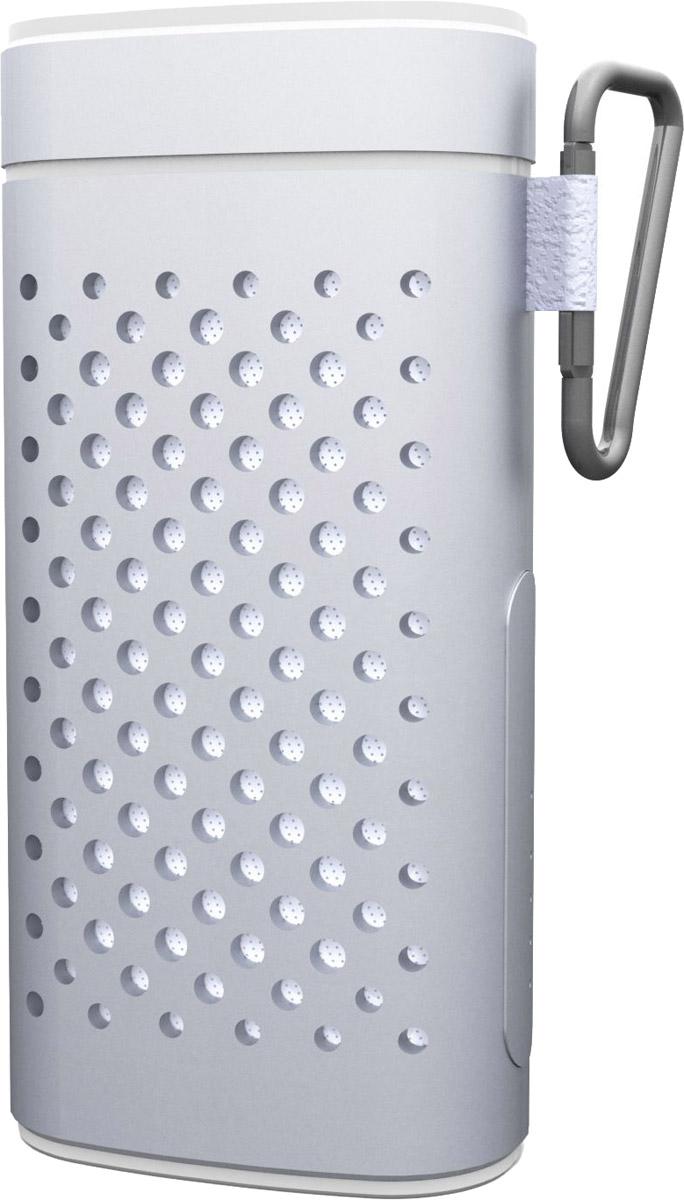 Ritmix SP-440PB, Silver портативная акустическая система15118774Ritmix SP-440PB - это компактная акустическая мини-система с чистым звучанием, которая совместима с большинством аудио- и мультимедийных устройств (мобильные телефоны, МР3-плееры, персональные компьютеры, ноутбуки, планшеты). С помощью встроенного литий-ионного аккумулятора на 4400 мАч вы можете зарядить телефон или любое другое мобильное устройство. Корпус выполнен из алюминия, в комплекте идет карабин. Подходит для тех, кто хочет от портативной акустики большего.