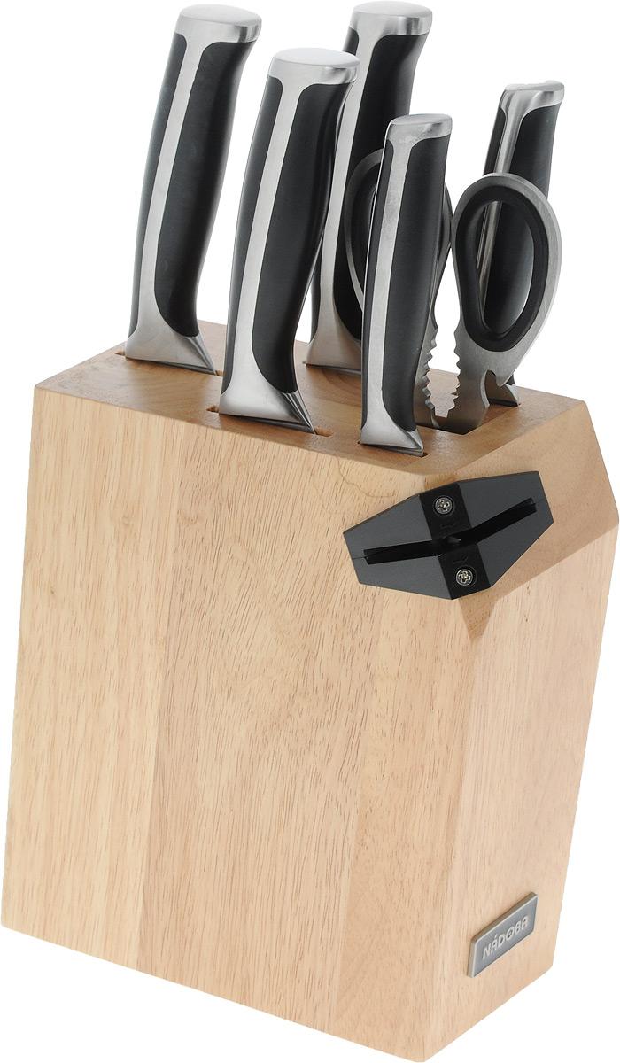 Набор ножей Nadoba Ursa, 7 предметов набор из 5 кухонных ножей ножниц и блока для ножей с ножеточкой nadoba rut 722716
