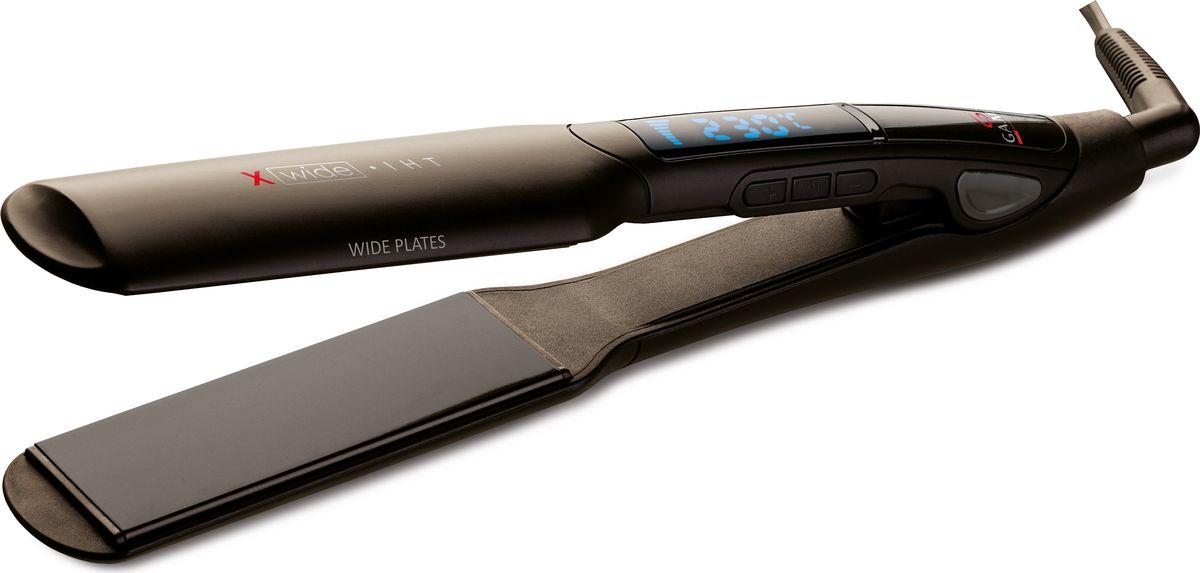 GA.MA X-Wide IHT щипцы-выпрямитель для волосP21.IHT.X-WIDEС помощью выпрямителя GA.MA P21.IHT.XWIDE вы сможете легко и быстро создать идеальную укладку даже для длинных объемных волос благодаря широким пластинам 4 см. Технология моментального нагрева IHT позволит приступить к укладке уже через 10 секунд после включения прибора. Укладывайте непослушные вьющиеся волосы одним движением без пересушивания!Плавающие пластины с турмалиновым покрытием помогут создать желаемый образ одним легким движением, сохраняя при этом блеск и здоровье волос. Цифровой дисплей поможет держать настройки прибора всегда под контролем: Вы можете установить желаемую температуру в диапазоне 150-230 градусов. Выпрямитель оснащен блокировкой кнопок для предотвращения случайного изменения температуры во время работы, а также функцией автоотключения после 60 минут для большей безопасности.