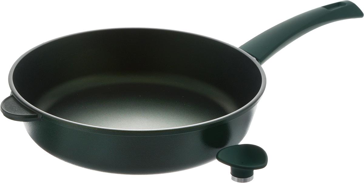 Сковорода Vari Esperto, с антипригарным покрытием. Диаметр 28 смХ31128Сковорода Vari Esperto выполнена из литого алюминия. Благодаря внутреннему износостойкому антипригарному покрытию Xylan XLR пища не пригорает и не прилипает к стенкам. Готовить можно с минимальным количеством масла и жиров. Гладкая поверхность обеспечивает легкость ухода за посудой.Посуда равномерно распределяет тепло и обладает высокой устойчивостью к деформации, легкая и практичная в эксплуатации.Подходит для использования на электрических, газовых и стеклокерамических плитах. Не подходит для индукционных плит.