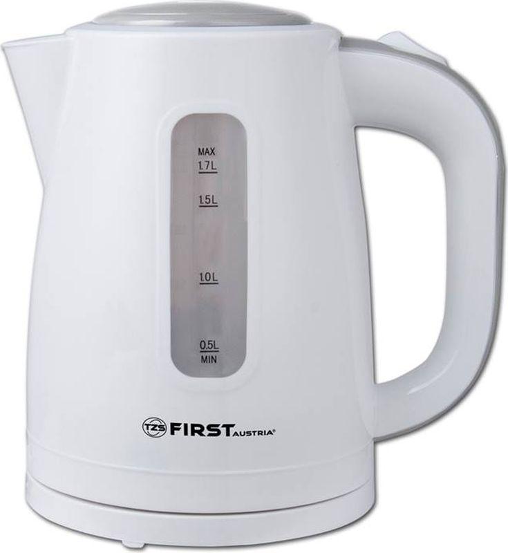 First 5426-4, White чайник электрическийFA-5426-4 WhiteЭлектрический чайник First 5426-4 прост в управлении и долговечен в использовании. Корпус выполнен из качественных материалов. Оснащен кнопкой плавного (мягкого) открытия крышки и внутренней подсветкой емкости. Мощность 2200 Вт быстро вскипятит 1,7 литра воды. Беспроводное соединение позволяет вращать чайник на подставке на 360°. Для обеспечения безопасности при повседневном использовании предусмотрены функция автовыключения, а также защита от включения при отсутствии воды.
