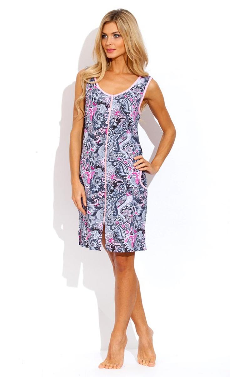 Халат женский Evateks, цвет: розовый. 1004. Размер 50/52 халат женский evateks цвет синий 525 размер 66 68