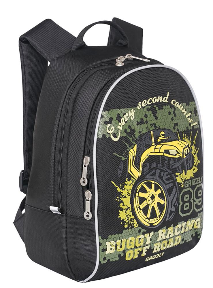 Grizzly Рюкзак RS-734-4/2RS-734-4/2Рюкзак Grizzly - это красивый и удобный рюкзак, который подойдет всем, кто хочет разнообразить свои школьные будни. Рюкзак выполнен из плотного материала - нейлона.Рюкзак имеет два вместительных отделения на застежках-молниях с двумя бегунками. В одном отделении находится небольшой открытый карман, в другом отделении - органайзер для канцелярских принадлежностей. Рюкзак оснащен удобной текстильной ручкой для переноски и светоотражающими элементами.Широкие регулируемые лямки рюкзака предохраняют мышцы спины ребенка от перенапряжения при длительном ношении.Многофункциональный рюкзак станет незаменимым спутником вашего ребенка.