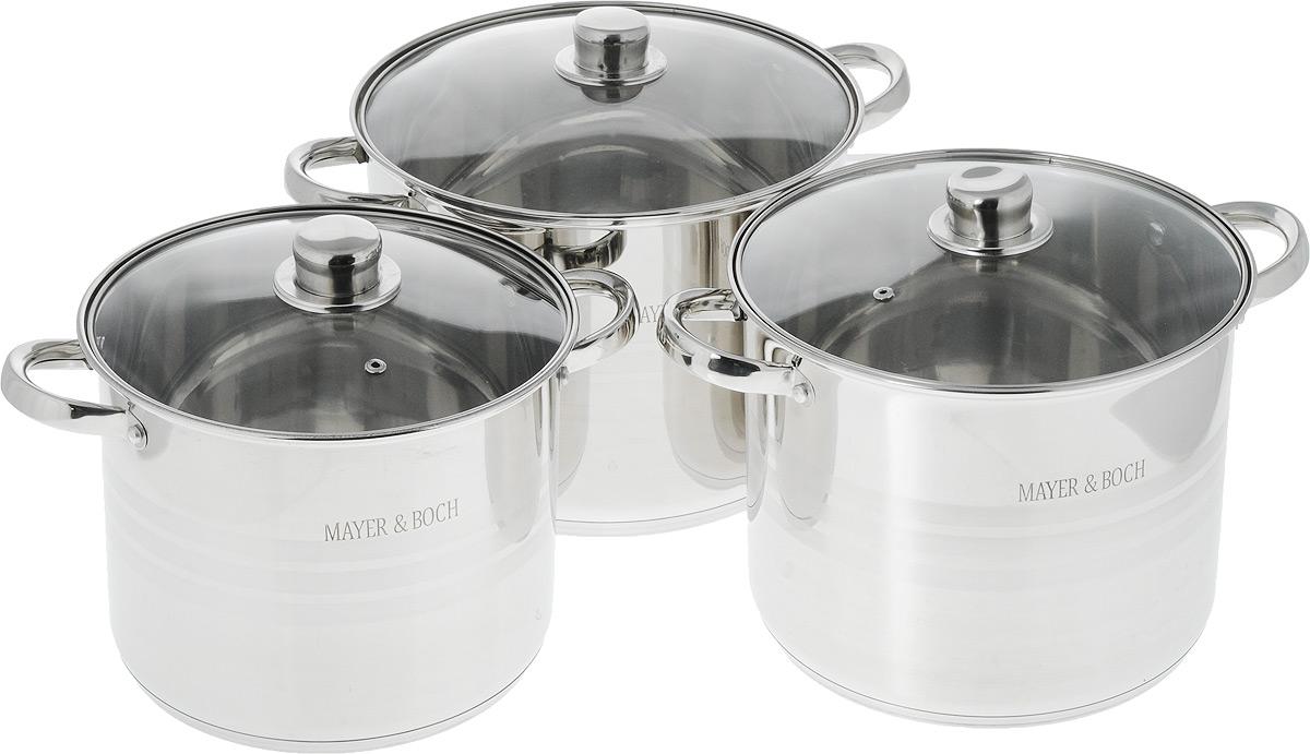 Набор кастрюль  Mayer & Boch , с крышками, 6 предметов. 26031 - Посуда для приготовления