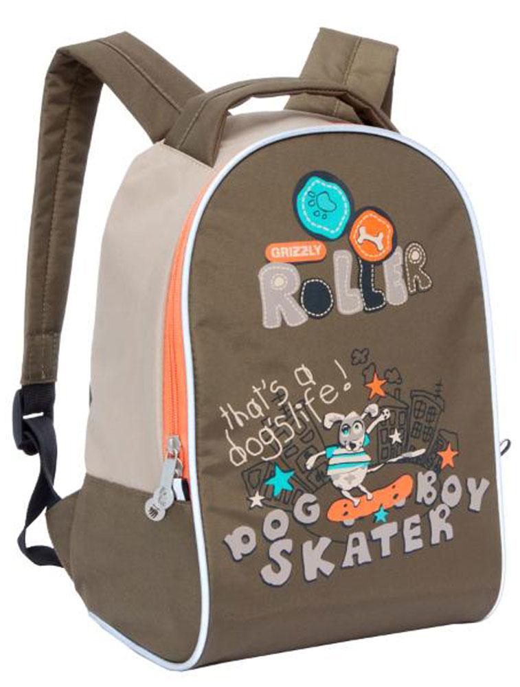 Grizzly Рюкзак дошкольный RS-734-8/1RS-734-8/1Дошкольный рюкзак Grizzly - это незаменимая вещь для ребенка, в нем можно разместить самые необходимые вещи. Пусть у вашего ребенка тоже будет свой собственный рюкзак.Выполнено изделие из прочных материалов. У модели одно вместительное отделение, закрывающееся на застежку-молнию с двумя бегунками. Широкие лямки можно свободно регулировать по длине.Рюкзак оснащен текстильной ручкой для переноски в руке. Светоотражающие элементы обеспечивают безопасность в темное время суток.