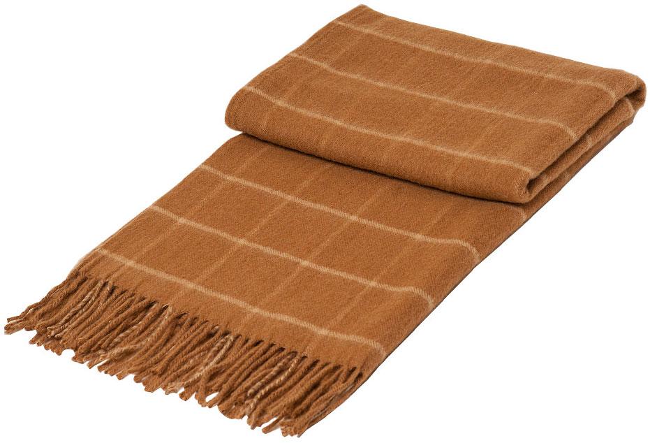 Плед Linea Lore Camello, 70 х 200 см. 1-361-070 (02)1-361-070 (02)Плед Linea Lore, выполненный из 100% шерсти, послужит теплым, мягким и практичным подарком близким людям. Натуральная верблюжья шерсть великолепно согревает, позволяя вашей коже дышать. Такой плед идеально подойдет для дачного отдыха: он очень пригодится, как только захочется укутаться, дыша вечерним воздухом, выручит, если приехали гости, и всегда под рукой, когда придет в голову просто полежать на траве!
