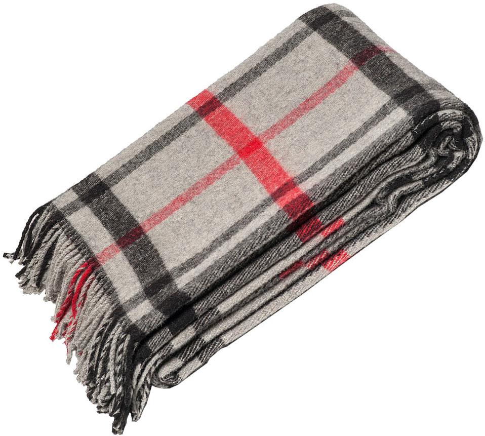 """Плед Руно """"Лондон"""", цвет: серый, черный, красный, 140 х 200 см. 1-521-140(06)"""