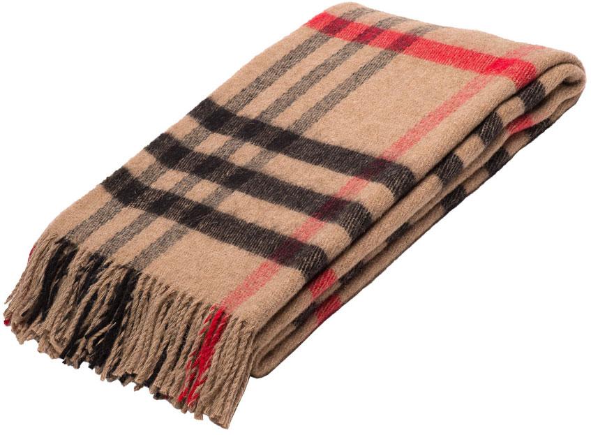 """Плед Руно """"Лондон"""", цвет: бежевый, черный, красный, 170 х 200 см. 1-522-170(31)"""