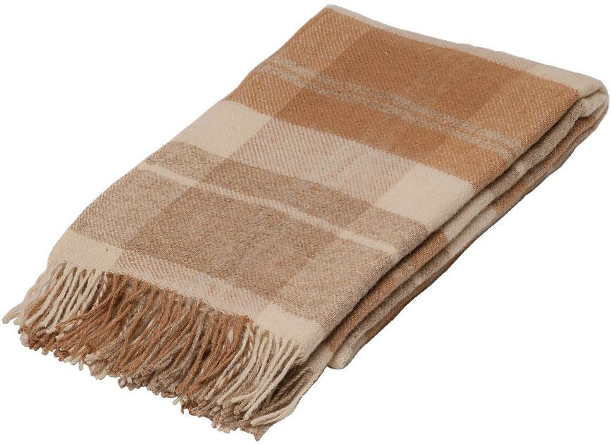 Плед Руно Блюз, цвет: коричневый, бежевый, 140 х 200 см. 1-451-140 (01)1-451-140 (01)