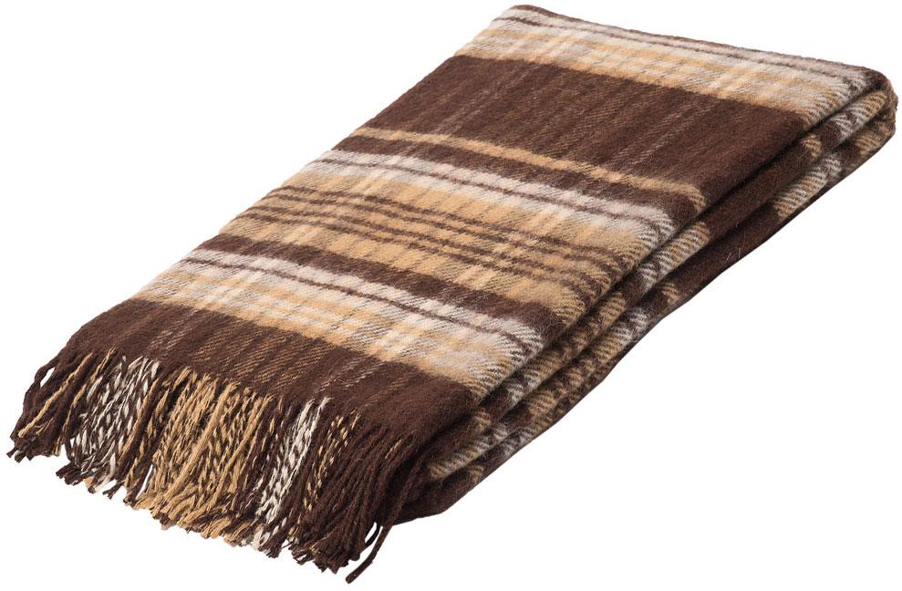 "Плед Руно ""Джаз"", цвет: коричневый, бежевый, 140 х 200 см. 1-661-140(05)"