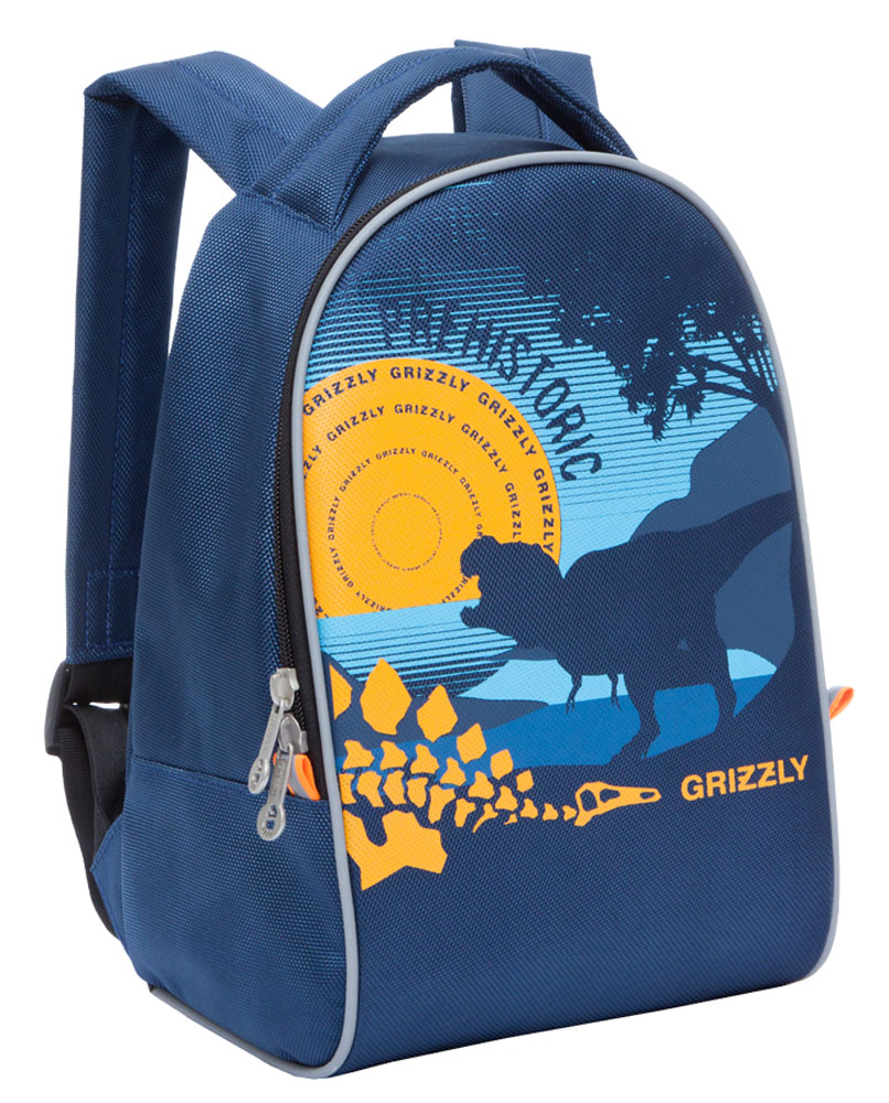 Grizzly Рюкзак дошкольный RS-734-6/2RS-734-6/2Дошкольный рюкзак Grizzly выполнен из прочного материала и украшен изображением динозавра. Рюкзак имеет одно отделение на молнии, регулируемые лямки и специальную ручку для размещения на вешалке. Также на рюкзаке находятся светоотражающие вставки.Порадуйте своего ребенка таким замечательным подарком!