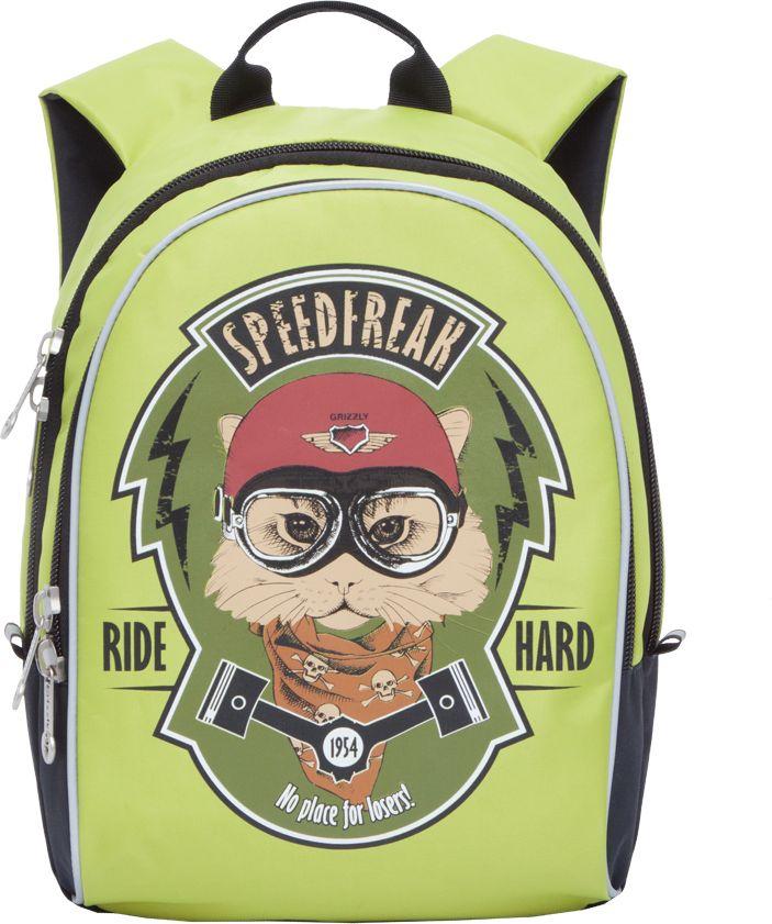 Grizzly Рюкзак дошкольный цвет светло-зеленый RS-734-3/1 grizzly рюкзак дошкольный цвет черный rs 734 3 4