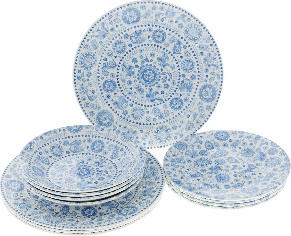 Набор столовой посуды Churchill, 12 предметов блюдо churchill диаметр 28 5 см