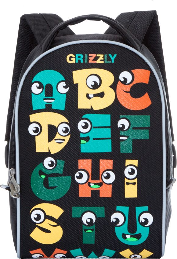 Grizzly Рюкзак дошкольный цвет черный RS-734-5/2RS-734-5/2Рюкзак дошкольный Grizzly изготовлен из высококачественного износоустойчивого материала с водоотталкивающей пропиткой. Рюкзак имеет одно вместительное отделение. Снаружи находятся светоотражающие вставки, делая ребенка заметным на дороге в темное время суток, благодаря чему его путь становится безопаснее. Мягкие регулируемые по высоте лямки обеспечат комфорт при носке, а так же рюкзак будет удобно подвесить на крючок благодаря петле для подвешивания сверху. Рюкзак оформлен ярким веселым принтом, который обязательно понравится ребенку.