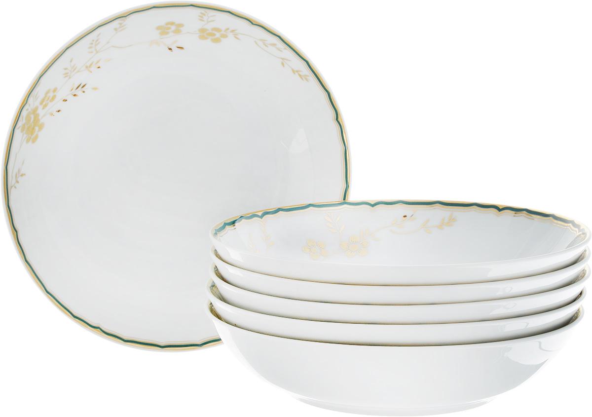 Набор глубоких тарелок La Rose des Sables Zen, диаметр 20 см, 6 шт559105 2130Набор La Rose des Sables Zen, изготовленный из высококачественного фарфора, состоит из 6 глубоких тарелок, которые имеют классическую круглую форму и декорированы цветочным рисунком. Такой набор прекрасно впишется в интерьер вашей кухни и станет достойным дополнением к кухонному инвентарю. Набор глубоких тарелок La Rose des Sables Zen подчеркнет прекрасный вкус хозяйки и станет отличным подарком.Диаметр тарелки (по верхнему краю): 20 см.Высота тарелки: 4,5 см.