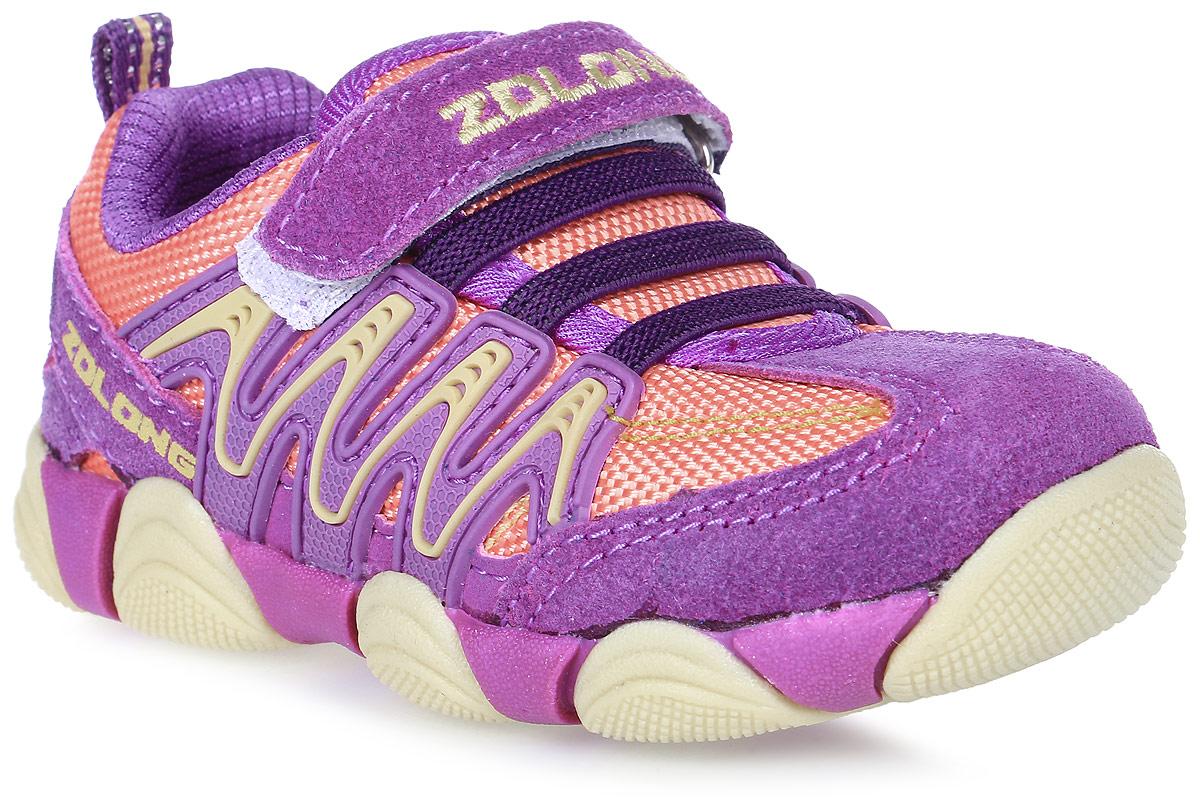 Кроссовки для девочки Buddy Dog, цвет: пурпурный, оранжевый. 7987. Размер 227987
