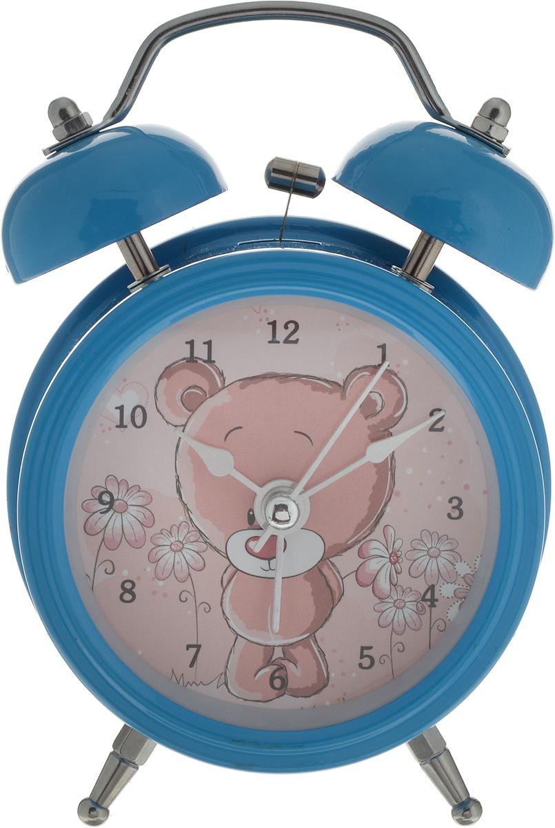 Будильник Sima-land Мишка-стесняшка, с подсветкой, цвет: голубой, диаметр 8 см127199_голубойНе бывает незначительных деталей. Из мелочей складывается образ человека и стильинтерьера. Будильник Sima-land Мишка-стесняшка - одна из тех деталей, которые придают домуобжитой вид и создают ощущение уюта. Изделие выполнено из высококачественного металла,задняя стенка из пластика, циферблат - стекло. Сверху будильника расположено 2 звоночка.Подсветка циферблата позволяет пользоваться будильником и в ночное время. Часы работают от 1 батарейки типа АА (не входит в комплект). Диаметр циферблата: 8 см. Высота будильника: 12 см.