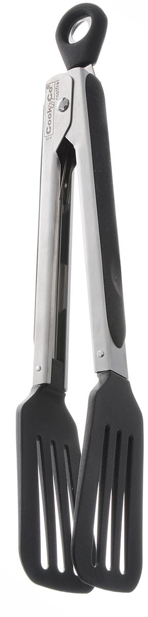 Щипцы сервировочные BergHOFF Cook&Co, длина 25 см2801031Сервировочные щипцы BergHOFF Cook&Co выполнены из нержавеющей стали и нейлона. Ими удобно сервировать тарелку приготовленными продуктами. Щипцы снабжены резиновыми вставками для удобного и надежного хвата. На рукоятке имеется петелька для подвешивания на крючок. Легко мыть. Изделие безопасно для посуды с антипригарным покрытием.