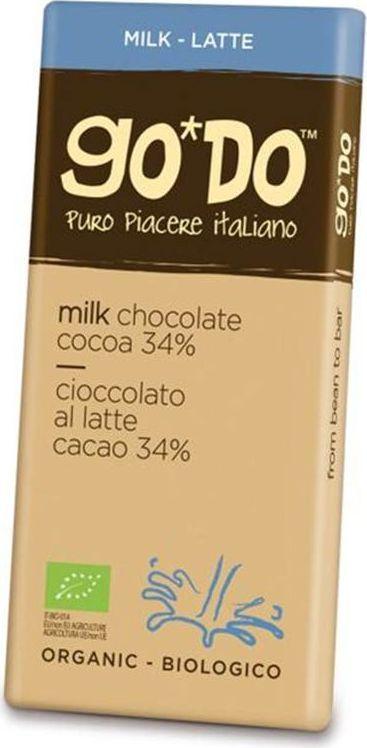 Icam Godo шоколад органический молочный 34% какао, 85 гК1060Шоколад ГОДО органический молочный 34% - органический шоколад из Италии высшего качества. Великолепный вкус шоколада является неотъемлемой частью наслаждения жизнью. Уникальная упаковка.