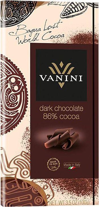 Icam Vanini шоколад горький 86% какао, 100 г bind сердце набор шоколадных конфет 225 г