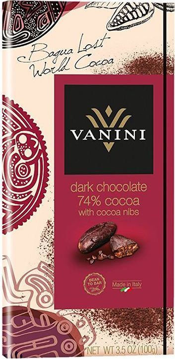 Icam Vanini шоколад с ядрами какао-бобов горький 74% какао, 100 гК72520Горький шоколад Ванини с ядрами какао-бобов с содержанием 74% какао - это гастрономический шоколад из Италии.