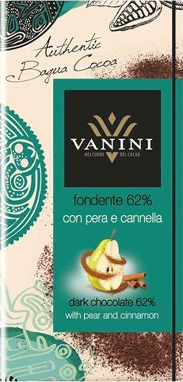 где купить Icam Vanini шоколад с грушей и корицей горький 62% какао, 100 г по лучшей цене