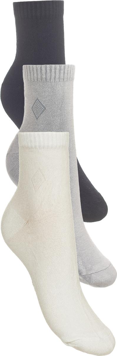 Носки детские Baykar, цвет: белый, светло-серый, серый, 3 пары. 281512-22. Размер 24,5/26, 13 лет281512-22Детские носки Baykar изготовлены из высококачественного эластичного хлопка с добавлением полиамида. Носки имеют эластичную резинку, которая надежно фиксирует носки на ноге. В комплект входит 3 пары носков.