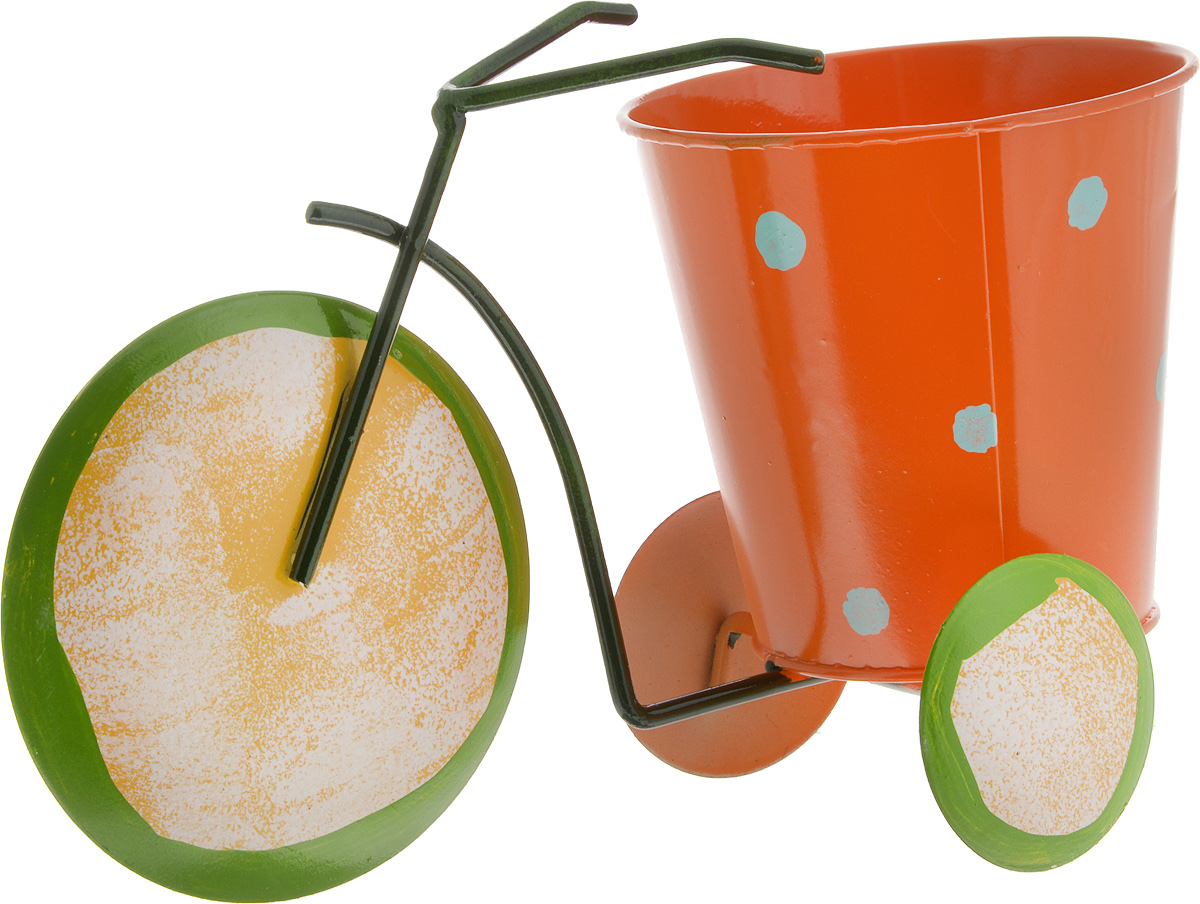 Кашпо декоративное Феникс-Презент Лимон, 22,5 х 10,5 х 14 см43877Декоративное кашпо Феникс-Презент Лимон выполнено из черного окрашенного металла в виде трехколесного велосипеда с красочным оформлением. Оригинальное кашпо предназначено для выращивания цветов, трав, растений. Благодаря такому кашпо вы сможете украсить вашу комнату, офис, сад и другие места. Общий размер изделия: 22,5 х 10,5 х 14 см.Диаметр кашпо: 10,5 см.Высота кашпо: 10 см.