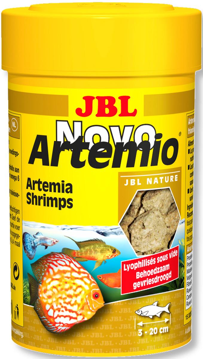 Корм для рыб JBL NovoArtemio, 250 мл (18 г)JBL3026400Дополнительный корм для рыб JBL NovoArtemio представляет собой рачки артемии, высушенные по технологии вакуумной заморозки. Это дополнительный корм для тропических пресноводных и морских рыб. Отличная альтернатива живому и замороженному корму. Идеальный корм для рыб размером от 3 до 20 см, обитающих во всех слоях воды. Корм не мутит воду и поддерживает качество воды. Благодаря лучшей усвояемости снижается количество экскрементов рыб. В процессе сушки сохранены все питательные вещества. Рекомендации по кормлению: 1-2 раза в день давайте столько корма, сколько рыбы съедают за несколько минут. Состав: моллюски и ракообразные. Анализ состава: белок 48,6%, жир 4,8%, клетчатка 1,2%, зола 16,6%. Товар сертифицирован.