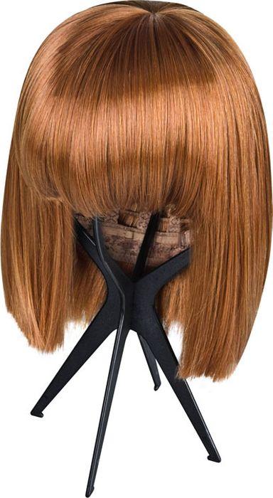 Складная подставка для парика, цвет черный. Размер универсальный. EF-WS03 - Средства и аксессуары для волос