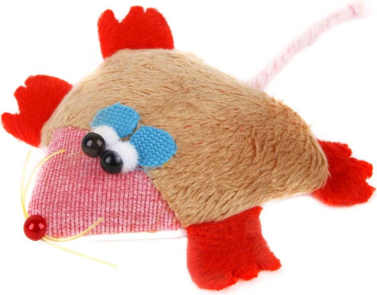 Игрушка для кошек GLG Мышка-норушка, цвет: бежевый, красный, 7 х 14 х 2,5 смGLG039_бежевый, красныйИгрушка для кошек GLG Мышка-норушка, выполненная из текстиля с наполнителем из синтепона, не позволит заскучать вашему пушистому питомцу. Играя с этой забавной игрушкой, маленькие котята развиваются физически, а взрослые кошки и коты поддерживают свой мышечный тонус. Игрушка оснащена черными глазками-бусинками и длинным хвостом.Такая игрушка порадует вашего любимца, а вам доставит массу приятных эмоций, ведь наблюдать за игрой всегда интересно и приятно. Размер игрушки (с учетом хвоста): 8,5 х 2,5 х 16 см.Уважаемые клиенты!Обращаем ваше внимание на возможные изменения в цвете деталей товара. Поставка осуществляется в зависимости от наличия на складе.