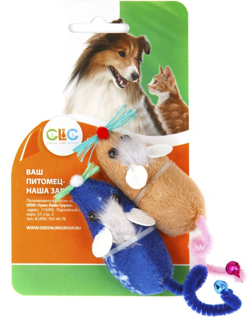 Игрушка для кошек GLG Мышка с гречихой, 2 шт